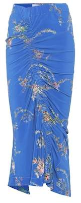 Preen by Thornton Bregazzi Floral-printed stretch crêpe skirt