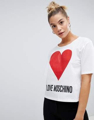 Love Moschino Foil Heart logo top