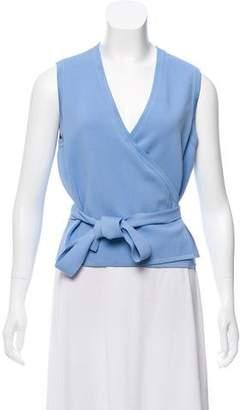 Diane von Furstenberg Sleeveless Knit Wrap Top