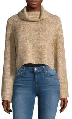 MinkPink Marled Cropped Sweater