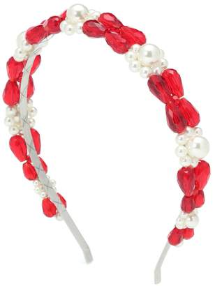Simone Rocha Crystal and faux pearl headband