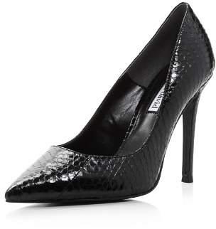 Charles David Women's Caleesi Pointed Toe Snake-Embossed Leather High-Heel Pumps