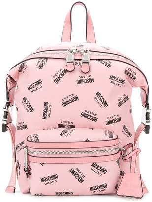 Moschino medium logo backpack
