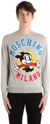 Moschino Bimbo Wool Knit Jacquard Sweater