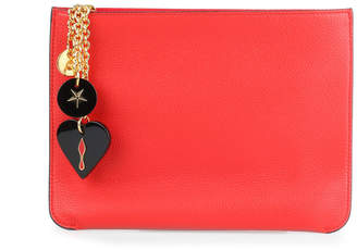 Christian Louboutin Loubicute red leather pouch