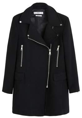 MANGO Zippers detail coat