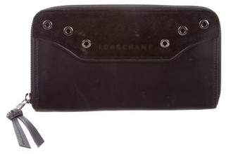 Longchamp Suede & Leather Wallet