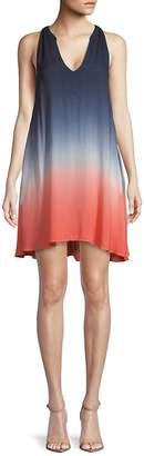 Young Fabulous & Broke Women's Ombre V-Neck Dress