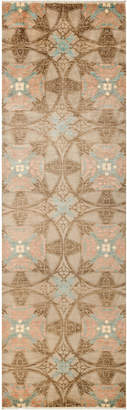 Solo Rugs Suzani Hand-Knotted Runner
