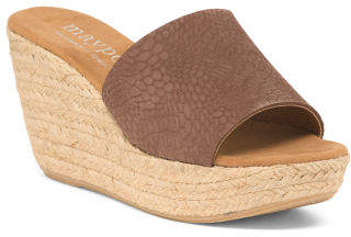 Made In Spain High Wedge Espadrilles