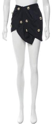 Anthony Vaccarello Studded Draped Skirt w/ Tags