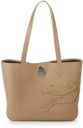 Longchamp Logo Leather Tote