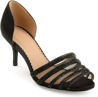 Journee Collection Womens Simone Pumps Slip-on Open Toe Stiletto Heel
