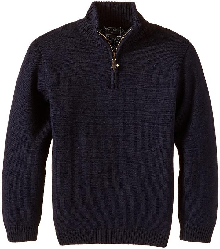 Oscar de la Renta Childrenswear - Merino 1/2 Zip Sweater Boy's Sweater