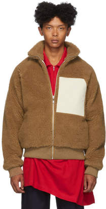 Jil Sanderand Reversible Brown Camel and Wool Fleece Jacket