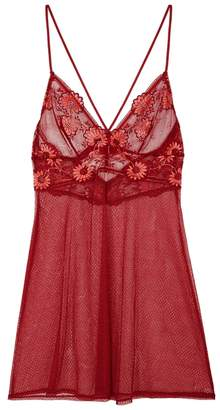 Wacoal Adore Red Lace Chemise