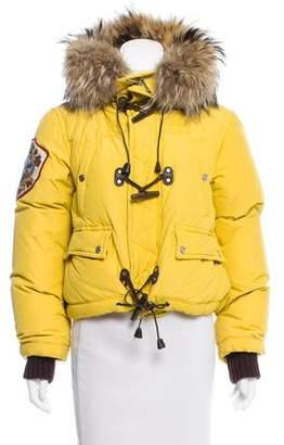 DSQUARED2 Fur-Trimmed Down Coat