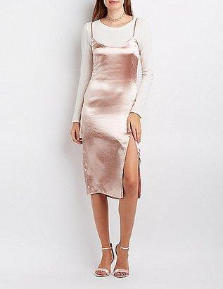 Satin Slip Shift Dress $26.99 thestylecure.com