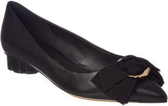 Salvatore Ferragamo Talla Leather Ballet Flat