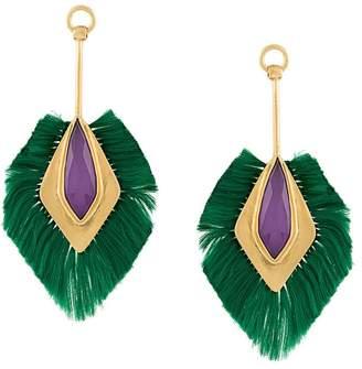 Katerina Makriyianni fringe pendant earrings