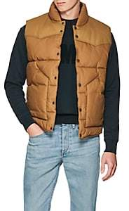 Rag & Bone Men's Cotton Canvas Padded Vest - Beige, Tan