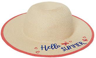 John Lewis & Partners Children's Hello Summer Straw Hat, Natural