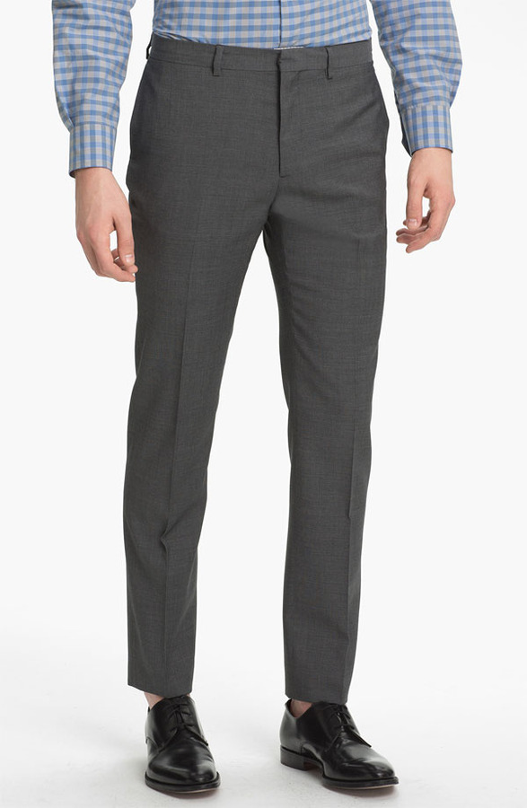 Paul Smith Slim Tapered Fit Wool Trousers