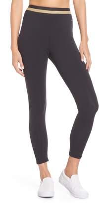 Kate Spade stripe waistband leggings