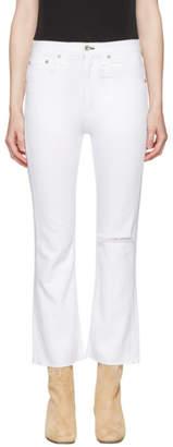 Rag & Bone White Marilyn Crop Jeans