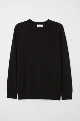 H&M Fine-knit Silk-blend Sweater - Black