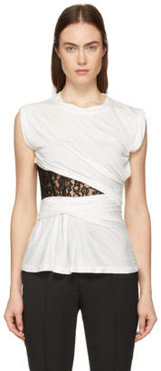 Alexander Wang White Lace Bustier T-Shirt
