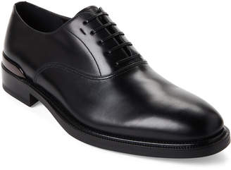 Salvatore Ferragamo Black Dylan Leather Oxfords