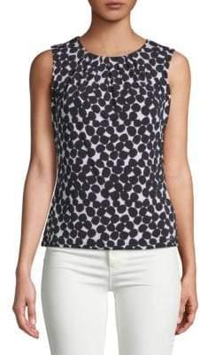 Calvin Klein Dot Print Sleeveless Top