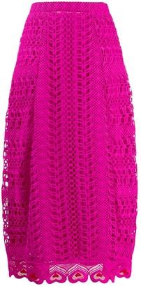 Temperley London Sunbird heart-shaped embroidery skirt