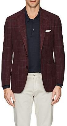 Sartorio Men's PG Windowpane Wool-Silk Two-Button Sportcoat