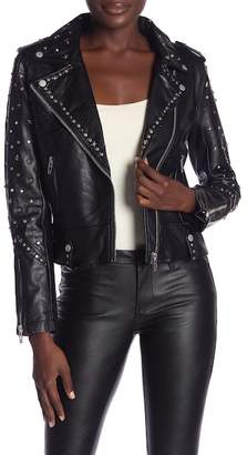 Blank NYC BLANKNYC Denim Studded Moto Jacket