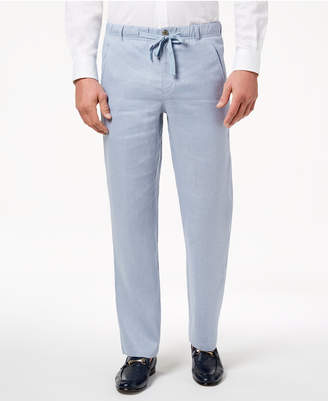 Tasso Elba Men's Linen Drawstring Pants, Created for Macy's