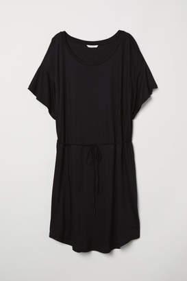 H&M T-shirt Dress with Tie Belt - Black