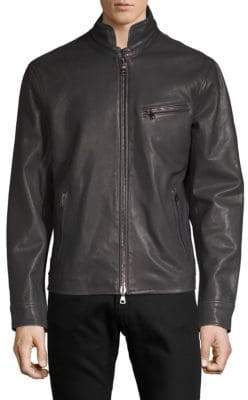 John Varvatos Full-Zip Leather Jacket