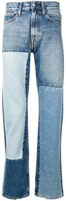 Calvin Klein Jeans straight patch jeans