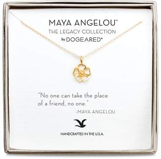 """Dogeared Maya Angelou Legacy Collection """"No One Can Take the Place of a Friend..."""" Necklace, 16"""""""