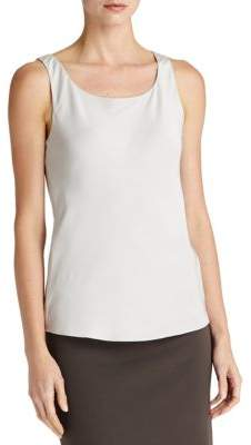 Lafayette 148 New York Silk Double Georgette Bias Tank Top