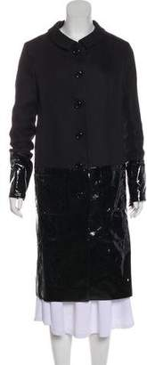 Christian Dior Lambskin-Accented Long Coat