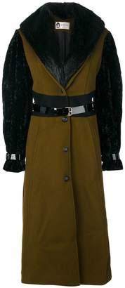 Lanvin racoon fur trim coat