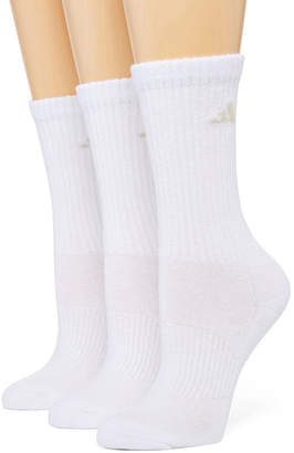 adidas 3-pk. ClimaLite Cushioned Crew Socks