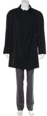 Bottega Veneta Bottega Venta Woven Button-Up Overcoat