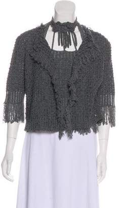 Chanel Camellia Cardigan Set Grey Camellia Cardigan Set