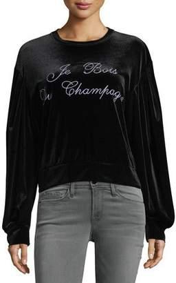 MISA Los Angeles Champagne Crewneck Velvet Sweatshirt