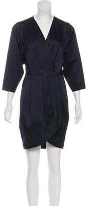 Marc Jacobs Sateen Wrap Dress