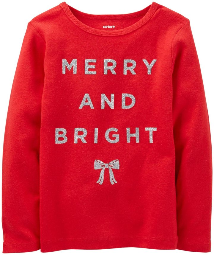 Carter's Merry & Bright Tee (Baby) - Red-6 Months